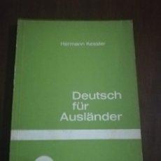 Libros de segunda mano: DEUTSCH FÜR AUSLÄNDER. HERMANN KESSLER. LEICHTE AUFGABEN. TEIL 1A. 1961.. Lote 221510422