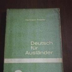 Libros de segunda mano: DEUTSCH FÜR AUSLÄNDER. HERMANN KESSLER. LEICHTE AUFGABEN. TEIL 1. 1954.. Lote 221510528