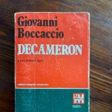 Libros de segunda mano: GIOVANNI BOCCACCIO/ DECAMERON/1982. Lote 222188757