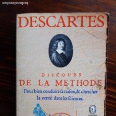 Libros de segunda mano: RENE DESCARTES, DISCOURS DE LA METHODE/1970. Lote 222189505