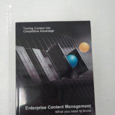 Libros de segunda mano: ENTERPRISE CONTENT MANAGEMENT. Lote 223293885