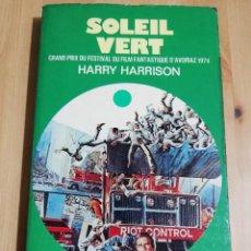 Libros de segunda mano: SOLEIL VERT. GRAND PRIX DU FESTIVAL DU FILM FANTASTIQUE D'AVORIAZ 1974 (HARRY HARRISON). Lote 223527155
