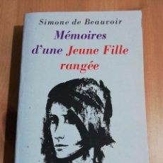 Libros de segunda mano: MÉMOIRES D'UNE JEUNE FILLE RANGÉE (SIMONE DE BEAUVOIR). Lote 223530475
