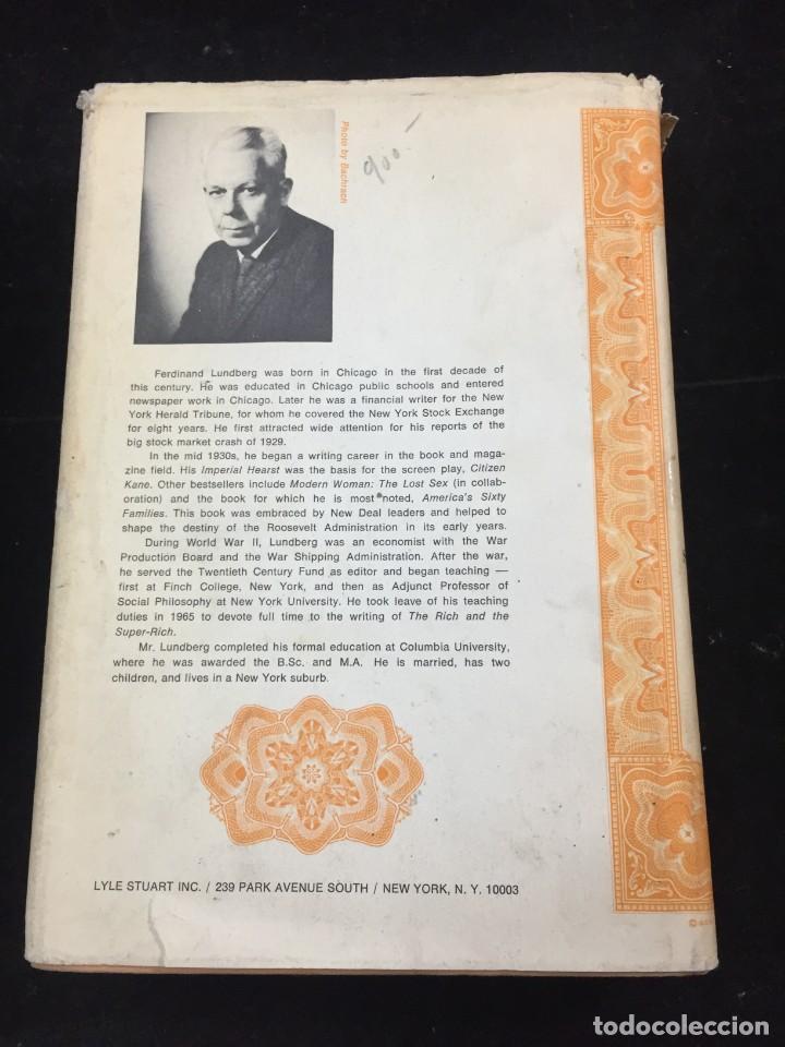 Libros de segunda mano: THE RICH AND THE SUPER-RICH A STUDY IN THE POWER OF MONEY TODAY Ferdinand Lundberg. 1968 - Foto 12 - 225319210