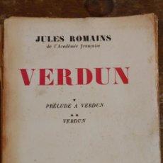 Libros de segunda mano: PRELUDE A VERDUN, JULES ROMAINS, PYMY 79. Lote 227888220