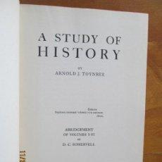 Libros de segunda mano: A STUDY OF HISTORY BY ARNOLD J. TOYNBEE - 1947 OXFORD - RESUMEN DE VOLÚMENES I-VI- 617 PAG. Lote 228883160