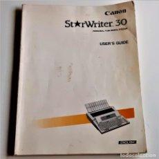 Libros de segunda mano: LIBRO MANUAL GUIA CANON STARWRITER 30 - 21 X 28.CM. Lote 228977310
