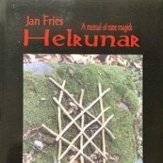 Libros de segunda mano: HELRUNAR. A MANUAL OF RUNE MAGICK (CULTURA CELTA, RUNAS). Lote 230039470