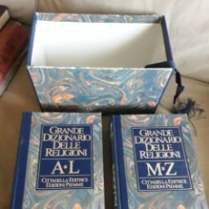 Libros de segunda mano: GRANDE DIZIONARIO DELLE RELIGIONI . 2 TOMOS . ESTUCHE. Lote 232134910
