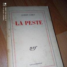 Libros de segunda mano: EDICIÓN FRANCESA DE 'LA PESTE' DE ALBERT CAMUS. Lote 233294830