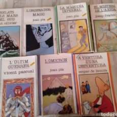 Libros de segunda mano: LOTE 7 LIBROS DE AVENTURAS EN VALENCIANO. AÑOS '80. Lote 233370315