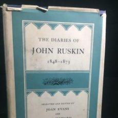 Libros de segunda mano: THE DIARIES OF JOHN RUSKIN, VOLUME II: 1848-1873 OXFORD AT THE CLARENDON PRESS, 1958. Lote 233900100