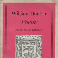 Libros de segunda mano: POEMS, WILLIAM DUNBAR. Lote 234054100