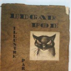 Libros de segunda mano: EDGAR ALAN POE / BAUDELAIRE - LE CHAT NOIR - ILLUSTRÉ PAR G. ZILZER - AUTÓGRAFO. Lote 235942140