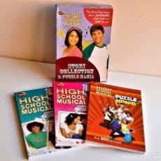 Libros de segunda mano: HIGH SCHOOL MUSICAL HISTORIA COLLECTION & PUZZLE MANIA SET DE 3 LIBROS - NUEVOS - EN INGLES. Lote 237942990