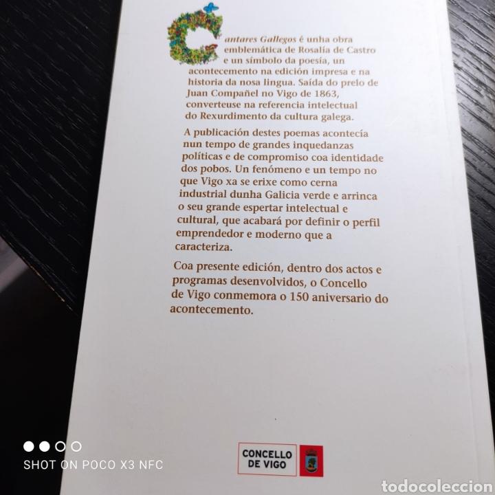 Libros de segunda mano: Cantares gallegos, Rosalía de Castro. 150 aniversario da primeira edición en Vigo - Foto 2 - 242374680