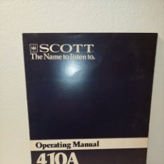 Libros de segunda mano: MANUAL DE USO 410 A SCOTT /90/. Lote 243825810