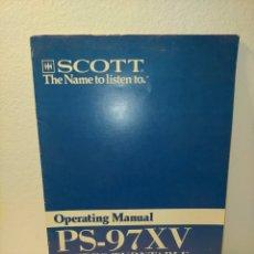 Libros de segunda mano: MANUAL DE USO PS-97 XV SCOTT /91/. Lote 243826305