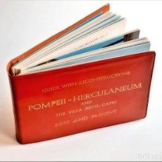 Libros de segunda mano: LIBRO GUIA WITH RECONSTRUCTIONS POMPEII- HERCULANEUM - 16 X 11.CM. Lote 243915805