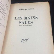 Libros de segunda mano: LES MAINS SALES, POR JEAN PAUL SARTRE. AÑO 1948. Lote 244183455