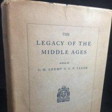 Libros de segunda mano: THE LEGACY OF THE MIDDLE AGES. CRUMP & JACOB, OXFORD UNIVERSITY PRESS, LONDON 1927.. Lote 244189085
