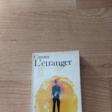 Libros de segunda mano: LIBRO «L'ÉTRANGER» ALBERT CAMUS EDITORIAL FOLIO. Lote 244546285