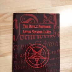 Livros em segunda mão: 'THE DEVIL'S NOTEBOOK'. ANTON SZANDOR LAVEY. Lote 245940255