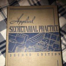 Libros de segunda mano: APPLIED SECRETARIAL PRACTICE SECOND EDITION. Lote 246340215