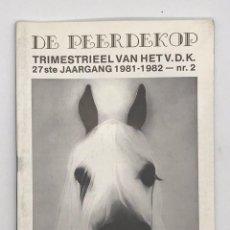 Libros de segunda mano: REVISTA VETERINARIA - ALEMANA 1981-1982 TRIMESTRIEL VAN HET V.D.K. 27STE JAARGANG N.º 2. Lote 254007780