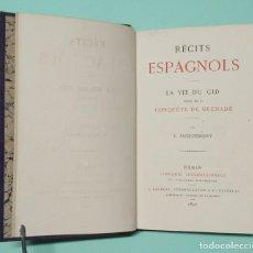 Libros de segunda mano: ANTIGUO LIBRO RÉCITS ESPAGNOLS LA VIE DU CID SUIVIE DE LA CONQUÉTE DE GRENADE POR V. JACQUEMONT 1870. Lote 254633710