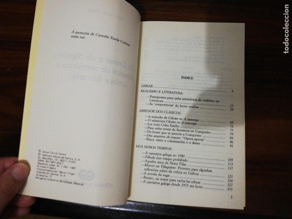 Libros de segunda mano: DE LETRAS E DE SIGNOS. ANXO TARRÍO VARELA. 1987 - Foto 3 - 255010500