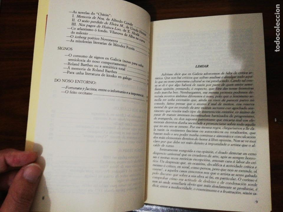 Libros de segunda mano: DE LETRAS E DE SIGNOS. ANXO TARRÍO VARELA. 1987 - Foto 4 - 255010500