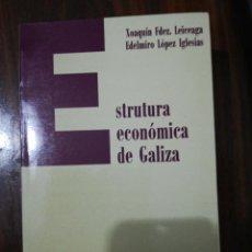 Libros de segunda mano: ESTRUTURA ECONÓMICA DE GALIZA. XOAQUÍN FDEZ LEICEAGA / EDELMIRO LÓPEZ IGLESIAS. LAIOVENTO. 2000. Lote 255013695