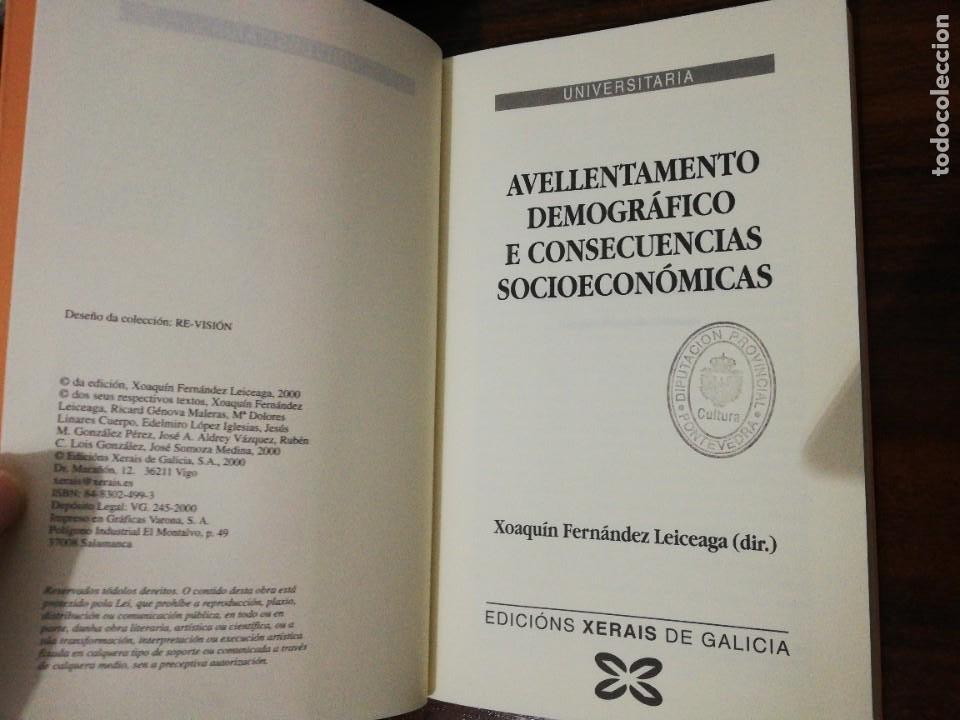 Libros de segunda mano: AVELLENTAMENTO DEMOGRÁFICO E CONSECUENCIAS SOCIOECONÓMICAS. XOAQUÍN FDEZ LEICEAGA. 2000 - Foto 3 - 255014260