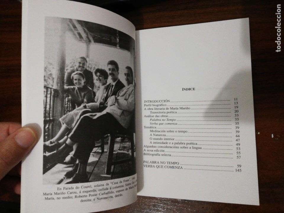 Libros de segunda mano: OBRA COMPLETA. MARÍA MARIÑO. BIBLIOTECA DAS LETRAS GALEGAS. XERAIS. 1994 - Foto 4 - 255014690