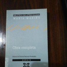 Libros de segunda mano: OBRA COMPLETA. MARÍA MARIÑO. BIBLIOTECA DAS LETRAS GALEGAS. XERAIS. 1994. Lote 255014690
