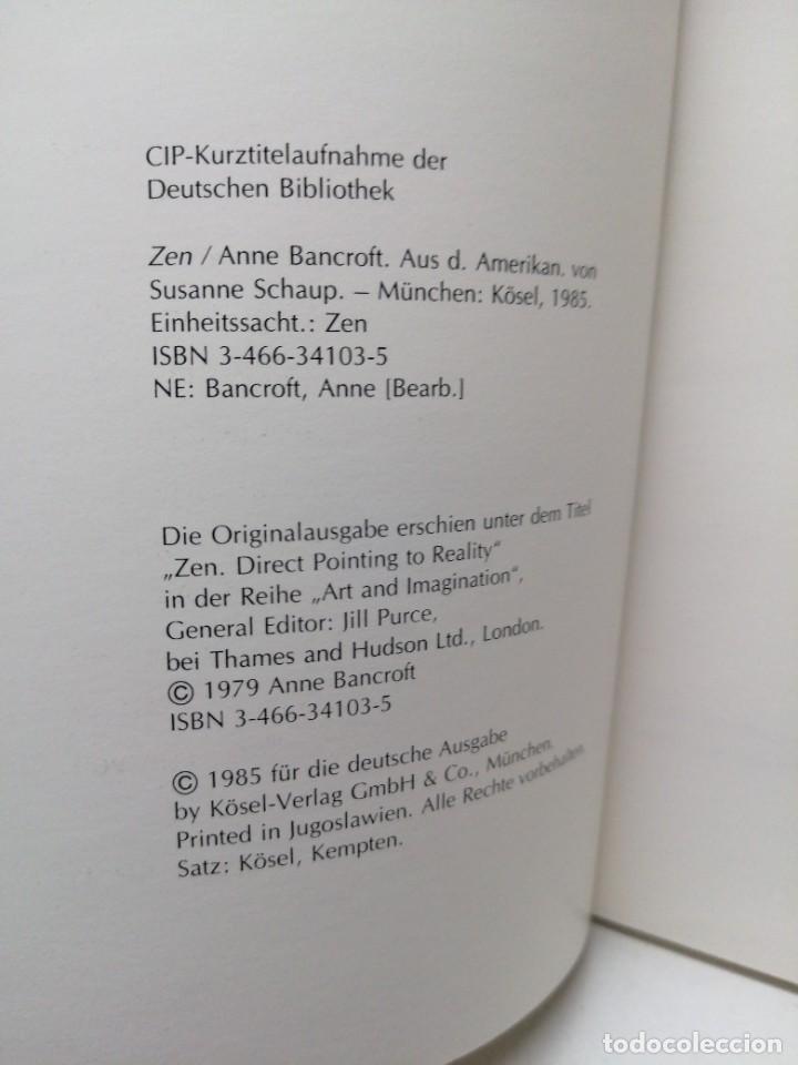 Libros de segunda mano: Libro ANNE BANCROFT ZEN KOSEL budismo - Foto 3 - 255020850