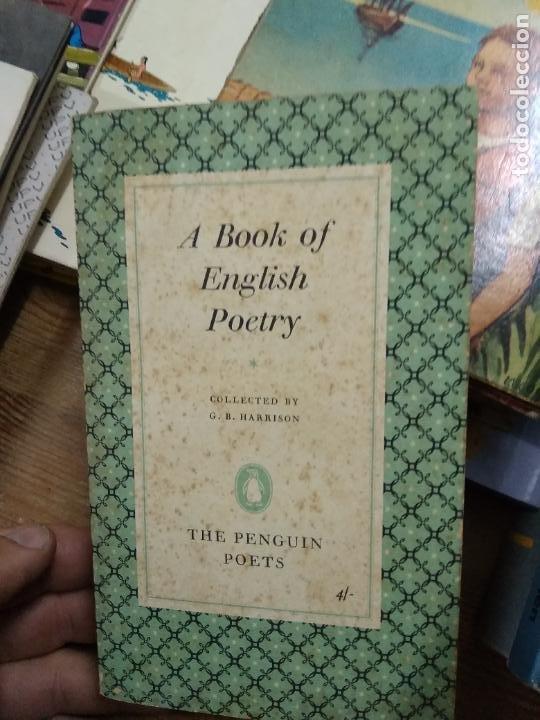 A BOOK OF ENGLISH POETRY, G. B. HARRISON. EN INGLÉS. L.2604-1450 (Libros de Segunda Mano - Otros Idiomas)