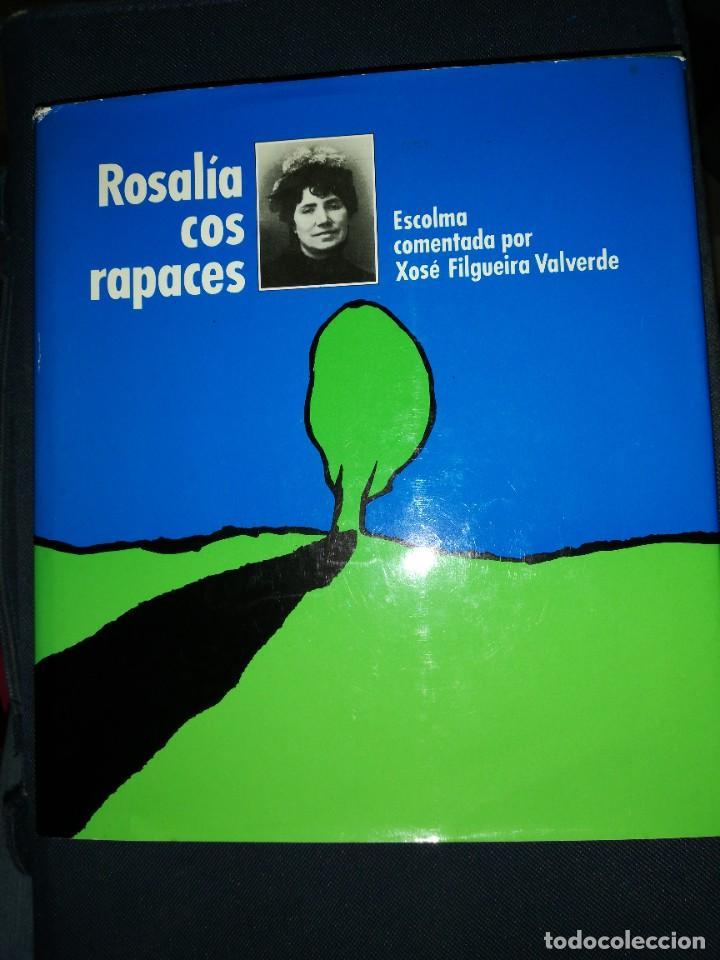 ROSALÍA COS RAPACES. ESCOLMA COMENTADA POR X. FILGUEIRA VALVERDE. 1985 (Libros de Segunda Mano - Otros Idiomas)