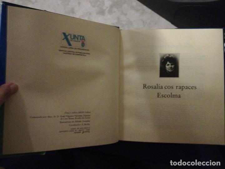 Libros de segunda mano: Rosalía cos rapaces. Escolma comentada por X. Filgueira Valverde. 1985 - Foto 4 - 257723175