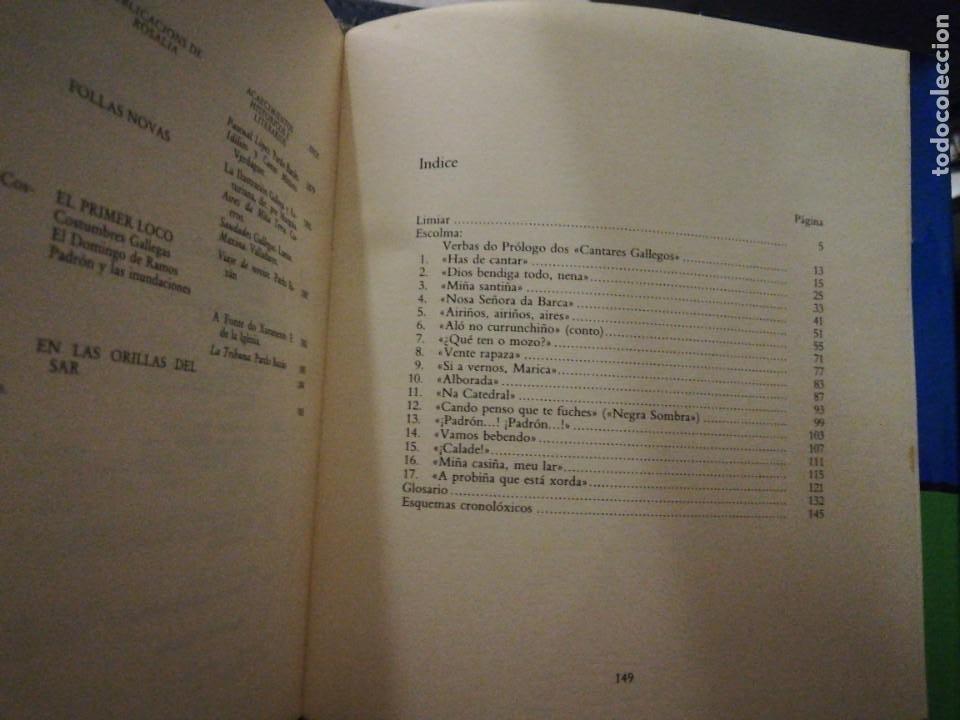 Libros de segunda mano: Rosalía cos rapaces. Escolma comentada por X. Filgueira Valverde. 1985 - Foto 7 - 257723175