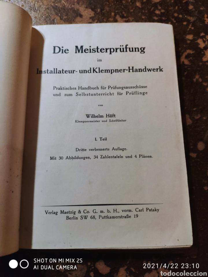 Libros de segunda mano: DIE MEISTERPRUFUNG IM INSTALLATEUR-UNDKLEMPNER-HANDWERK (WILHELM HOFT) - Foto 3 - 257734385