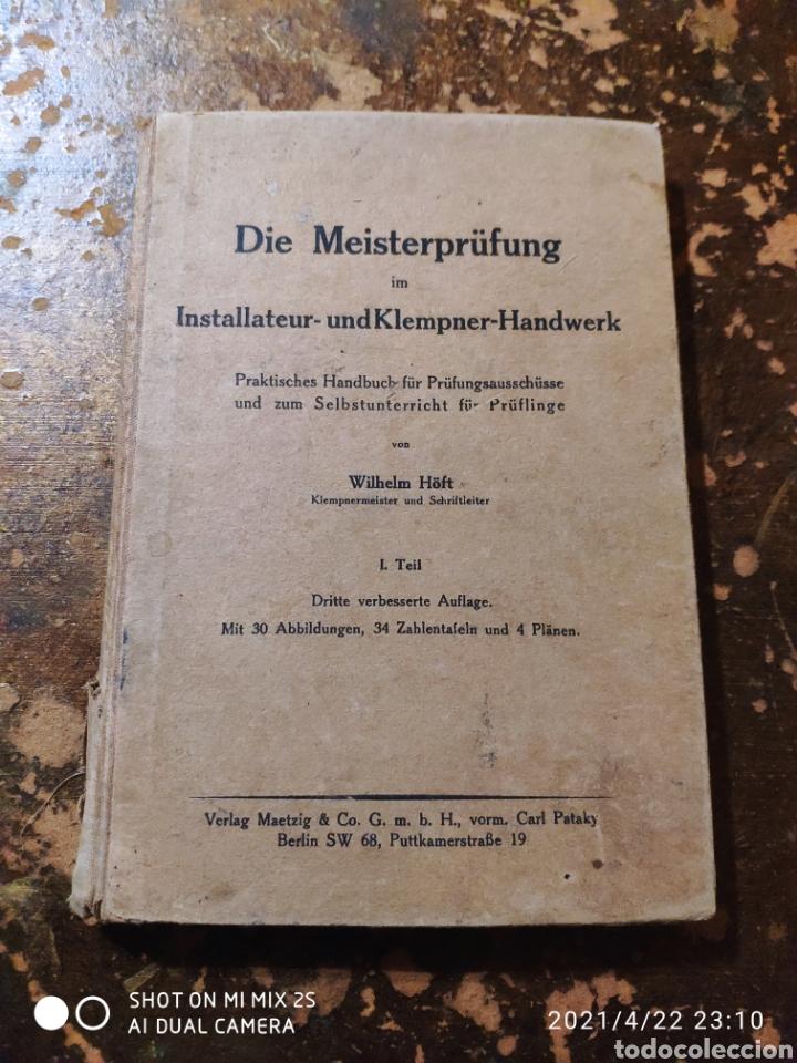 DIE MEISTERPRUFUNG IM INSTALLATEUR-UNDKLEMPNER-HANDWERK (WILHELM HOFT) (Libros de Segunda Mano - Otros Idiomas)