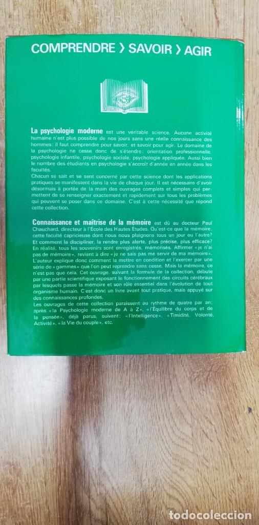 Libros de segunda mano: Connaissance et Maîtrise de la Mémoire. CHAUCHARD Paul. 1968 - Foto 5 - 262792335