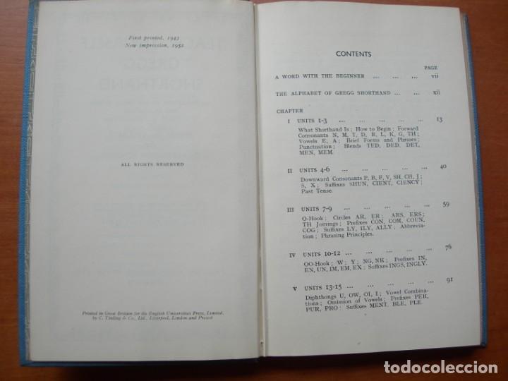 Libros de segunda mano: TEACH YOURSELF GREGG SHORTHAND / ERNEST W. CROCKETT - F. ADDIGTON SYMONDS INGLÉS - Foto 3 - 262803675