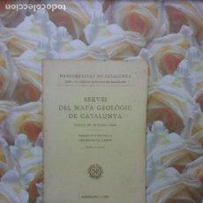 Livres d'occasion: SERVEI DEL MAPA GEOLÒGIC DE CATALUNYA. DR. M. FAURA I SANS. BARCELOONA 1923. Lote 264419379