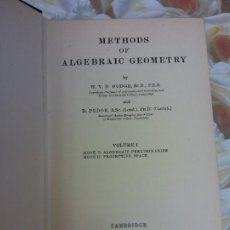 Livres d'occasion: METHODS OF ALGEBRAIC GEOMETRY. VOLUME I. CAMBRIGE AT THE UNIVERSITY PRESS 1953. Lote 266128693