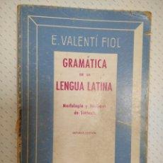 Livros em segunda mão: LIBRO GRAMÁTICA DE LA LENGUA LATINA.. Lote 267158384