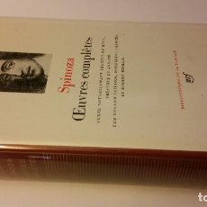 Libros de segunda mano: 1978 - SPINOZA - OEUVRES COMPLÈTES - BIBLIOTHEQUE DE LA PLEIADE. Lote 268437239