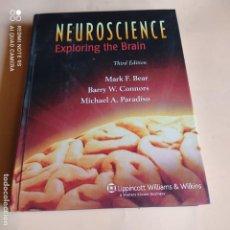 Libros de segunda mano: NEUROSCIENCE. EXPLORING THE BRAIN. BEAR. CONNORS. PARADISO. WILLIAMS & WILKINS. 2006.857 PAGS.. Lote 268908989